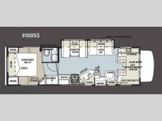 Floorplan - 2012 Forest River RV Sunseeker 3100SS