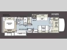Floorplan - 2012 Forest River RV Sunseeker 3170DS