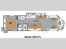 Floorplan - 2012 Forest River RV V-Cross Classic 29VCFL