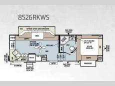 Floorplan - 2013 Forest River RV Flagstaff Classic Super Lite 8526RKWS