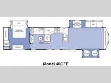 Floorplan - 2013 Forest River RV Cedar Creek Cottage 40CFE