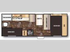 Floorplan - 2014 Forest River RV Cherokee Wolf Pup 22BP