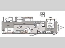 Floorplan - 2014 Forest River RV Wildwood Lodge 404FB Lodge