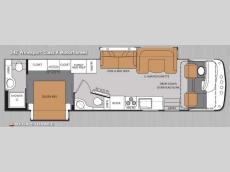 Floorplan - 2014 Thor Motor Coach Windsport 34E