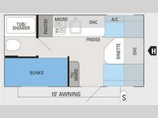 Floorplan - 2014 Jayco Jay Flight Swift SLX 154BH