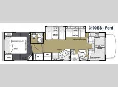Floorplan - 2014 Forest River RV Sunseeker 3100SS Ford