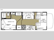 Floorplan - 2015 Forest River RV Sunseeker 2300 Ford