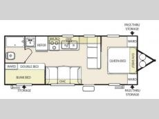 Floorplan - 2015 Forest River RV Salem Cruise Lite 261BHXL