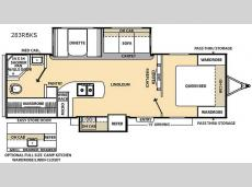 Floorplan - 2015 Coachmen RV Catalina 283RBKS