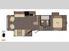 Floorplan - 2015 CrossRoads RV Cruiser Aire CAF28SE