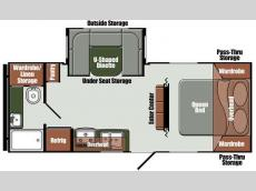 Floorplan - 2015 Gulf Stream RV Gulf Breeze Ultra Lite 24 RBS
