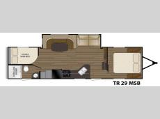 Floorplan - 2016 Heartland Trail Runner 29MSB