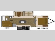 Floorplan - 2016 Heartland North Trail 27BHDS King
