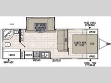 Floorplan - 2017 Coachmen RV Freedom Express 24SE