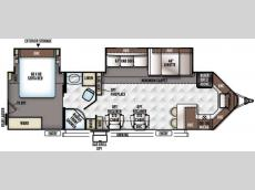 Floorplan - 2017 Forest River RV Flagstaff V-Lite 30WFKSS