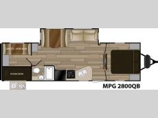 Floorplan - 2017 Cruiser MPG 2800QB