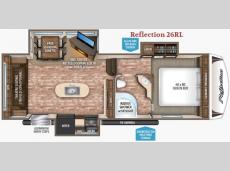 Floorplan - 2017 Grand Design Reflection 26RL