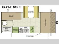 Floorplan - 2017 Starcraft AR-ONE 18BHS