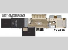 Floorplan - 2017 Heartland Cyclone 4250