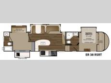 Floorplan - 2017 Heartland ElkRidge 38RSRT
