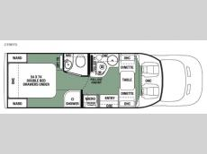 Floorplan - 2017 Forest River RV Sunseeker TS 2390