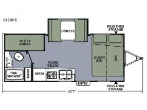 Floorplan - 2017 Coachmen RV Apex Nano 193BHS