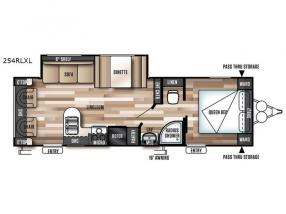 Floorplan - 2017 Forest River RV Wildwood X-Lite 254RLXL