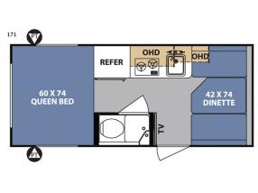 Floorplan - 2017 Forest River RV R Pod RP-171