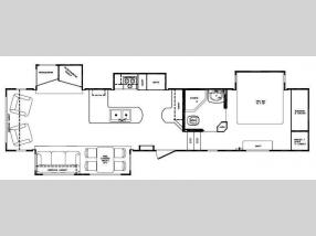 Floorplan - 2009 Forest River RV Cardinal 34QRL