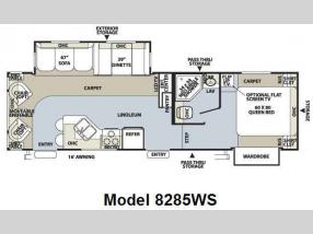 Floorplan - 2009 Forest River RV Rockwood Signature Ultra Lite 8285WS
