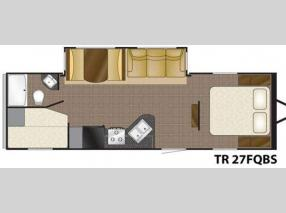 Floorplan - 2011 Heartland Trail Runner 27 FQBS