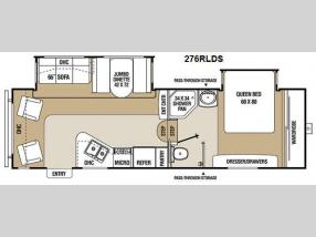 Floorplan - 2012 Coachmen RV Chaparral 276RLDS