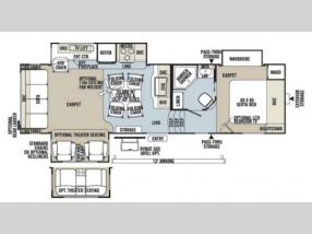 Floorplan - 2013 Forest River RV Rockwood Signature Ultra Lite 8282WS