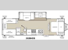 Floorplan - 2014 Coachmen RV Freedom Express 292BHDS