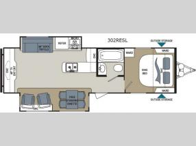 Floorplan - 2015 Dutchmen RV Aerolite 302RESL