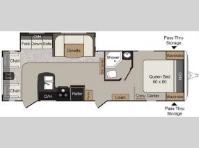 Floorplan - 2016 Keystone RV Passport 2890RL Grand Touring