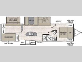 Floorplan - 2017 Coachmen RV Freedom Express Liberty Edition 320BHDS