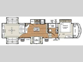 Floorplan - 2017 Forest River RV Sandpiper 389RD