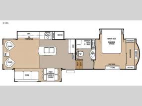Floorplan - 2017 Forest River RV Cedar Creek Hathaway Edition 34RL