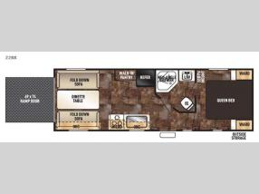 Floorplan - 2017 Forest River RV Cherokee Grey Wolf 22RR