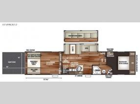 Floorplan - 2017 Forest River RV Cherokee Wolf Pack 315PACK12
