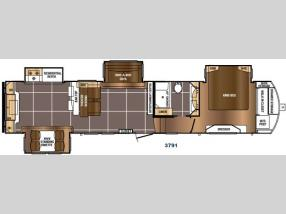 Floorplan - 2017 Prime Time RV Sanibel 3791
