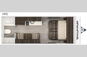 New 2021 Forest River RV Cherokee 16FQ Photo