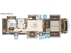Floorplan - 2017 Grand Design Solitude 379FLS