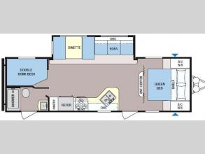 Floorplan - 2017 Dutchmen RV Coleman Lantern Series 263BH