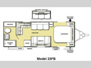 Floorplan - 2012 Forest River RV Salem 23FB