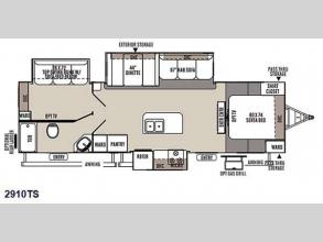 Floorplan - 2015 Forest River RV Rockwood Ultra Lite 2910TS