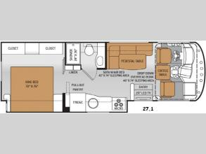 Floorplan - 2015 Thor Motor Coach ACE 27.1