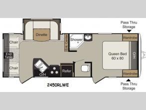 Floorplan - 2015 Keystone RV Passport 2450RLWE