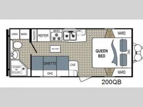 Floorplan - 2016 Dutchmen RV Kodiak Ultimate 200QB